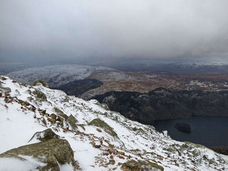 Looking west, Thirlmere now far below