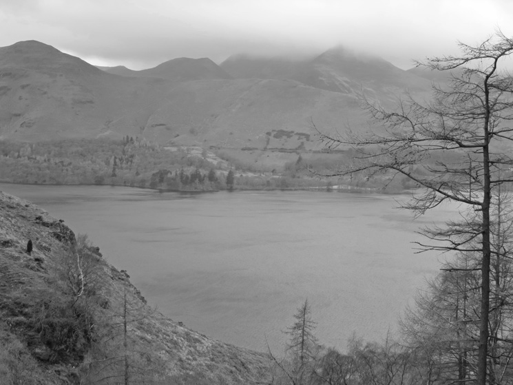 Catbells across Derwent Water from Cat Gill