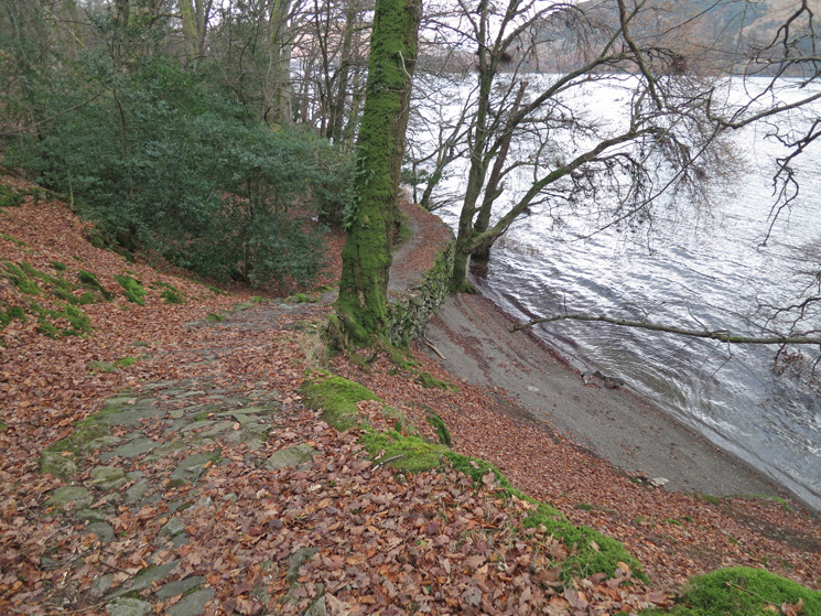Part of the lakeside path