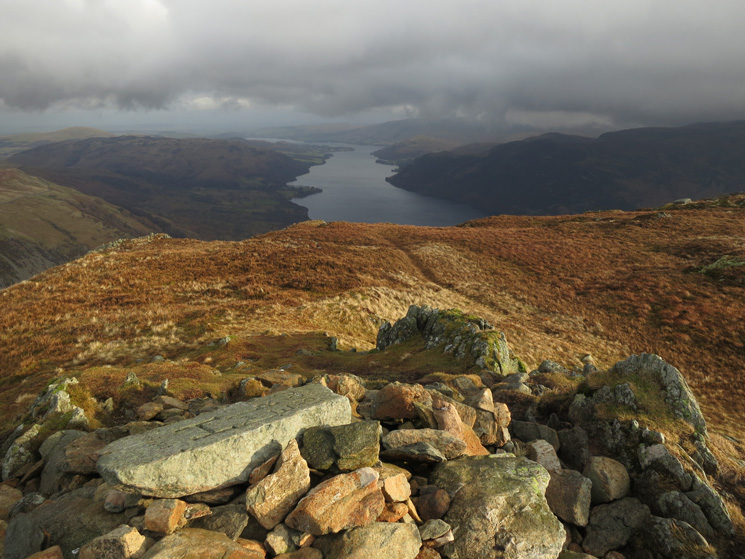 Ullswater from Sheffield Pike's summit cairn