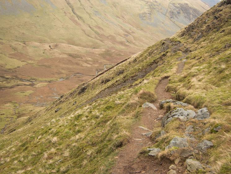 The path down into Glencoyne from Nick Head