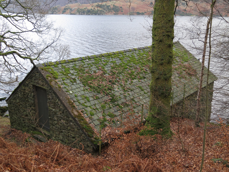 One of the many boathouses on Ullswater