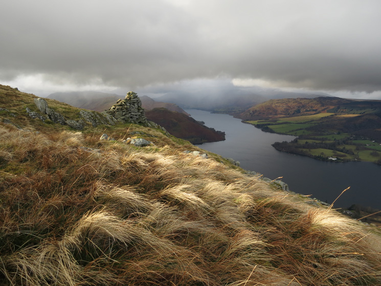 Ullswater from the beacon, 250m northwest of Arthur's Pike summit