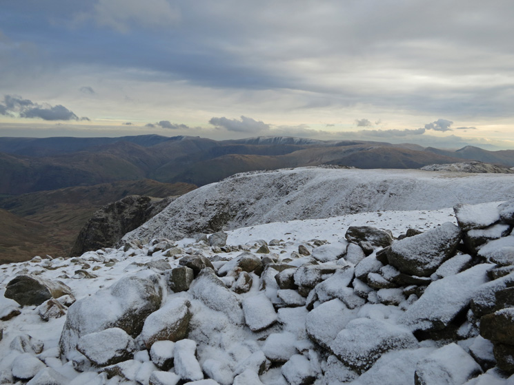 The far eastern fells from Fairfield's summit