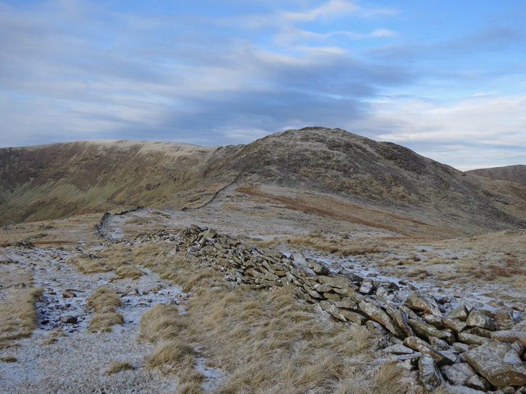 Looking back to Fairfield and Hart Crag