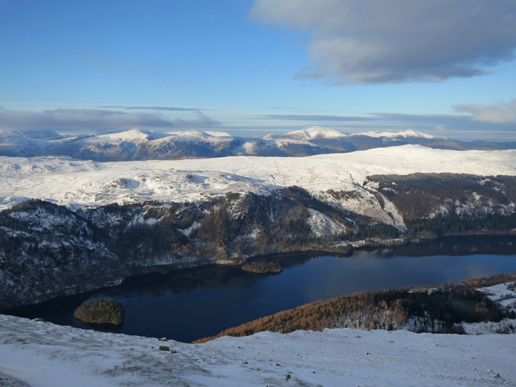 Over Thirlmere and the central ridge to the north western fells