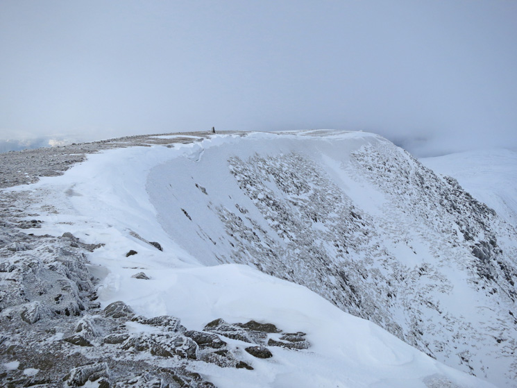 Helvellyn's summit as the weather closes in