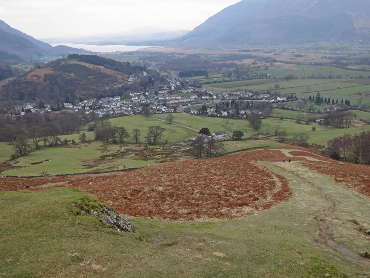Looking back down on Braithwaite from low down on Barrow's north ridge
