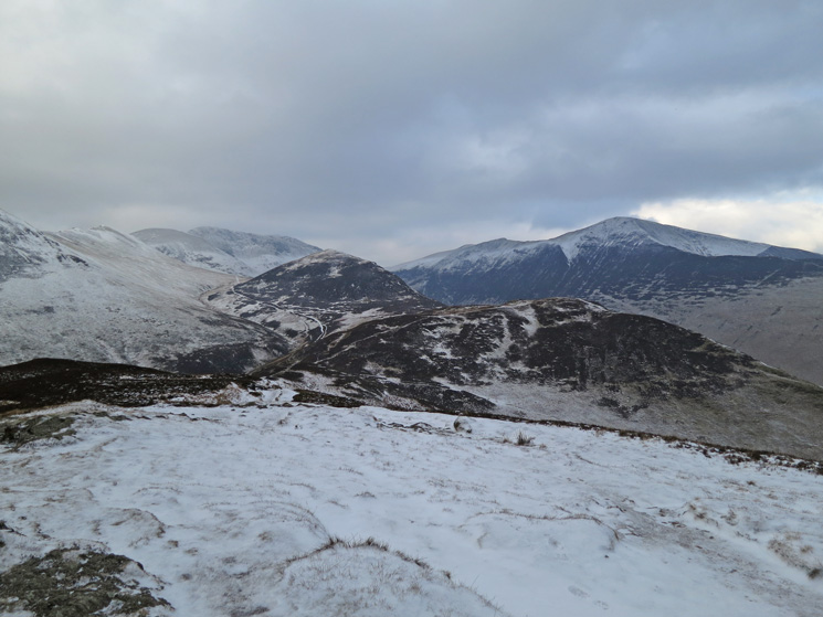 Outerside and Grisedale Pike above Stile End