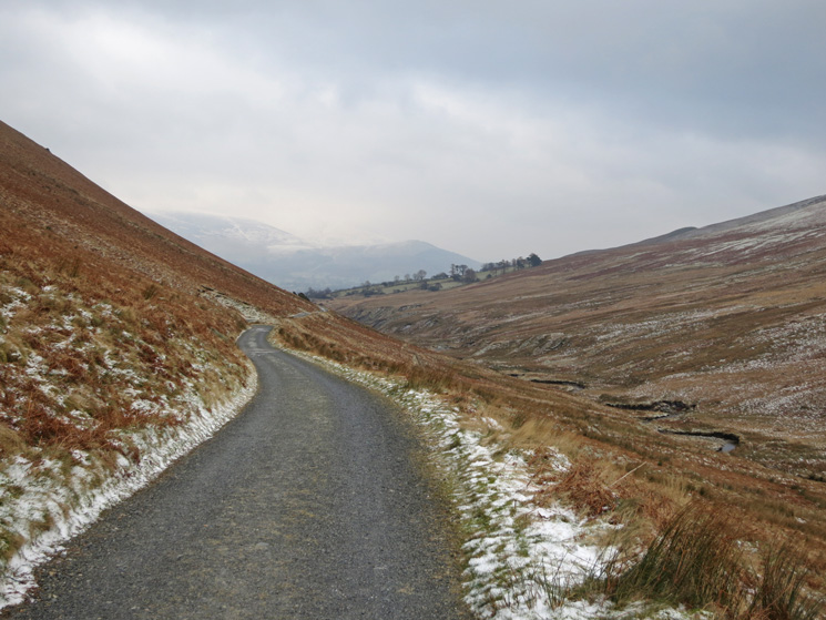 The long track back through Coledale to Braithwaite