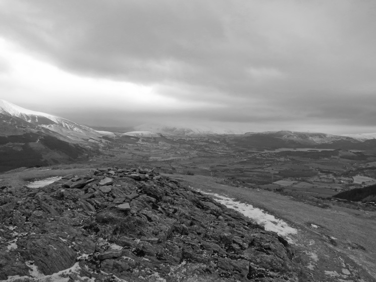 The Vale of Keswick from Barf's summit