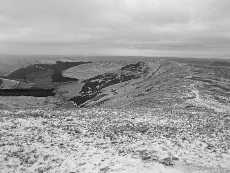 Graystones and Broom Fell from Lord's Seat summit
