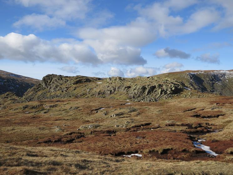 Looking across to Calf Crag's summit