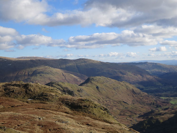 Looking back to Gibson Knott and Helm Crag from Calf Crag