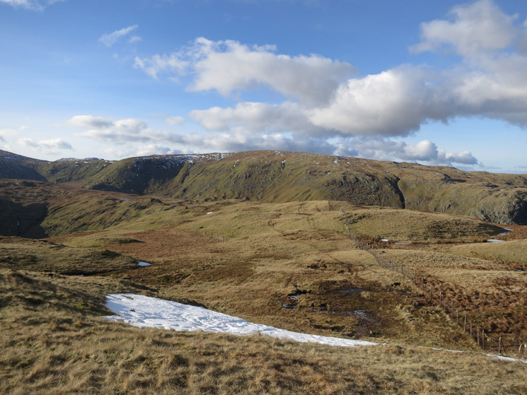 Looking across to Ullscarf from Steel Fell