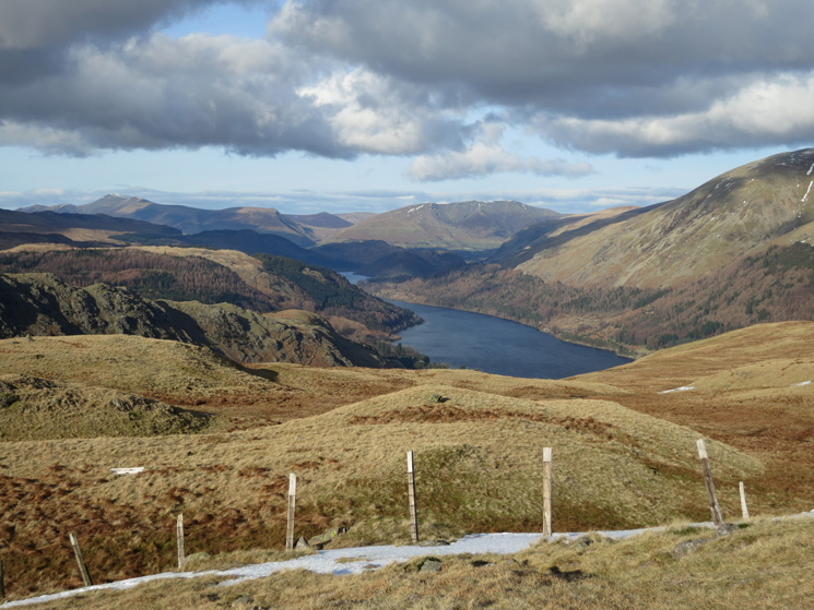 Thirlmere with Skiddaw and Blencathra in the distance
