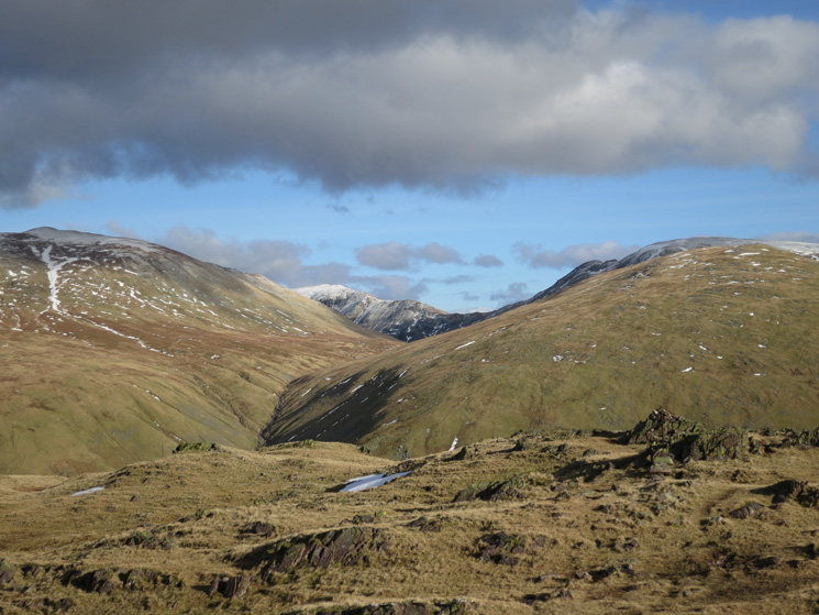 Dollywaggon Pike, St Sunday Crag and Seat Sandal (with Fairfield behind)