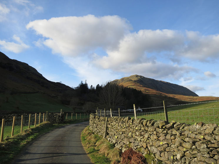 Looking back to Steel Fell's south east ridge