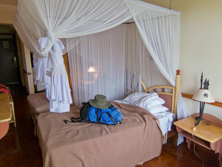 Room in the Impala Hotel, Arusha, Tanzania