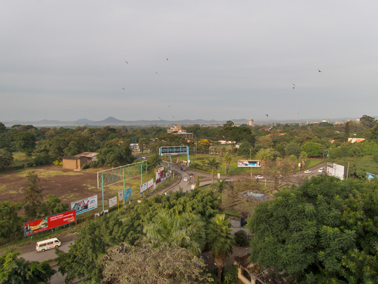 View from the 8th floor, Impala Hotel, Arusha