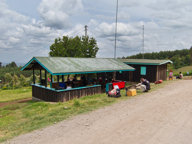 'Tourist Shelter' where we had a late lunch at the start of the Rongai Route