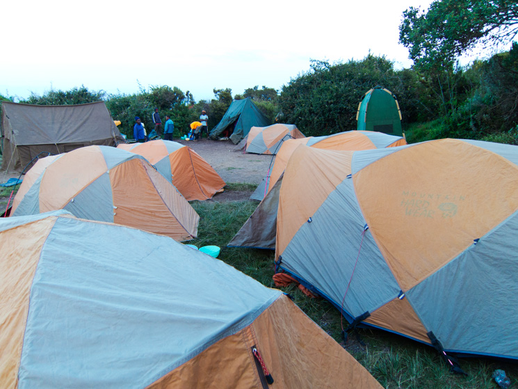 Our tents at Simba Camp
