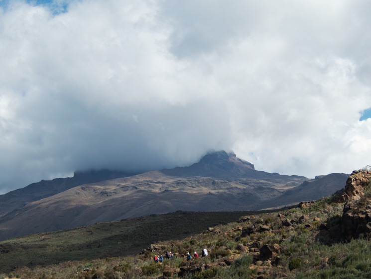 The top of Mawenzi in cloud