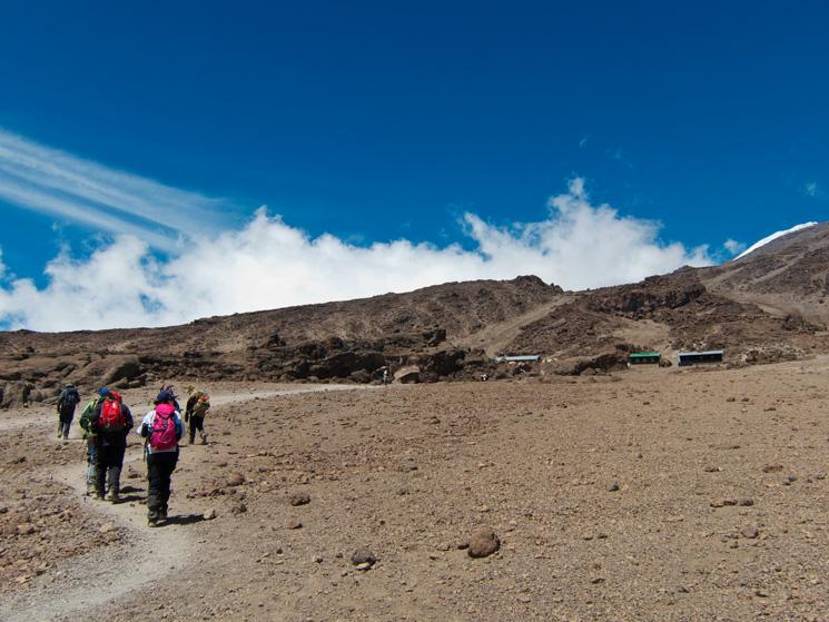 Approaching Kibo Hut