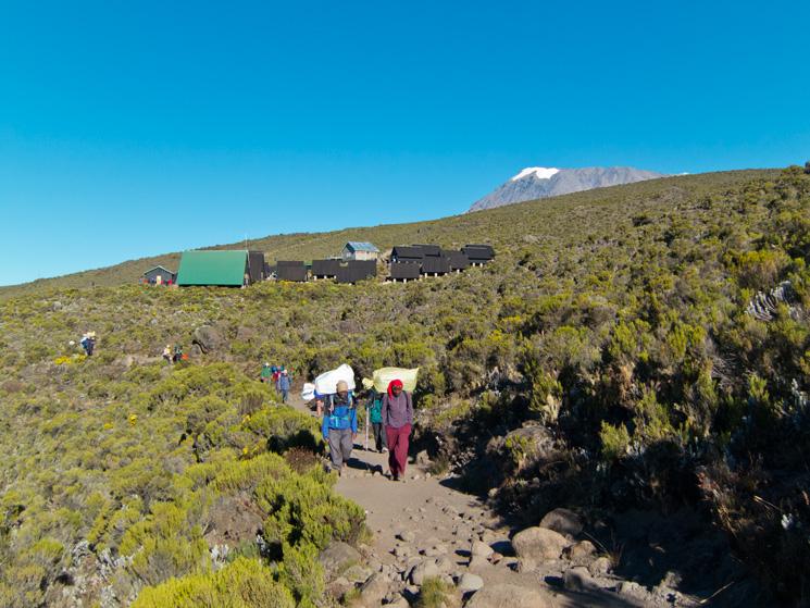 Leaving Horombo Huts