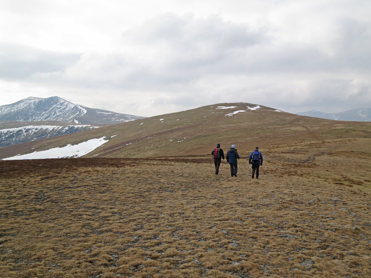 Heading for Bowscale Fell's summit