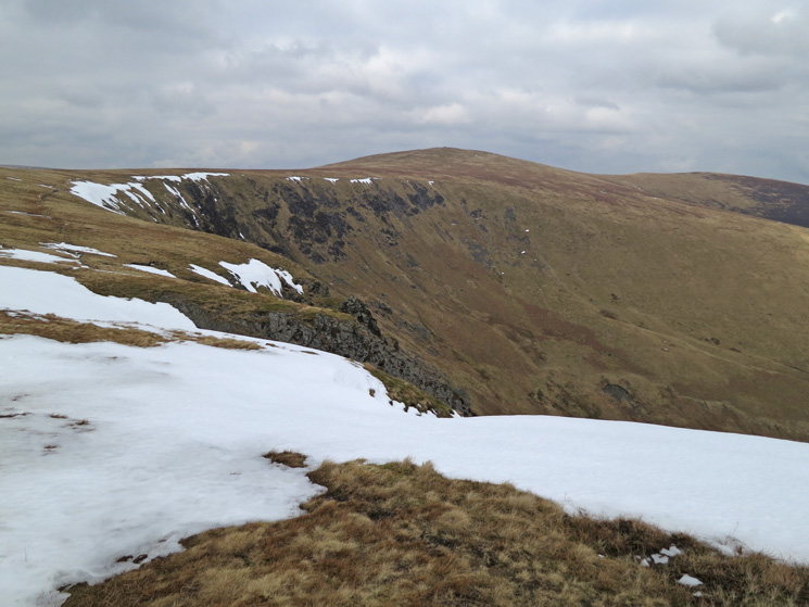 Looking back to Bowscale Fell