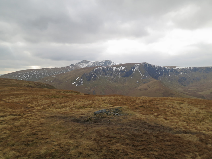 Blencathra and Bannerdale Crags from Souther Fell's summit