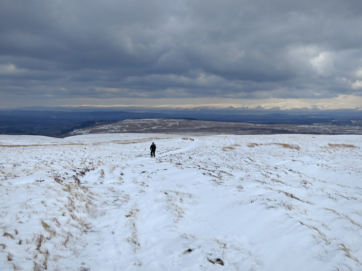 Up in the snow now. Snowy North Pennines in the distance