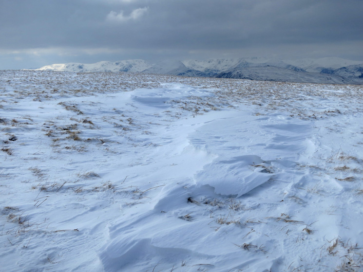 Looking towards the Fairfield and Helvellyn fells from Loadpot Hill