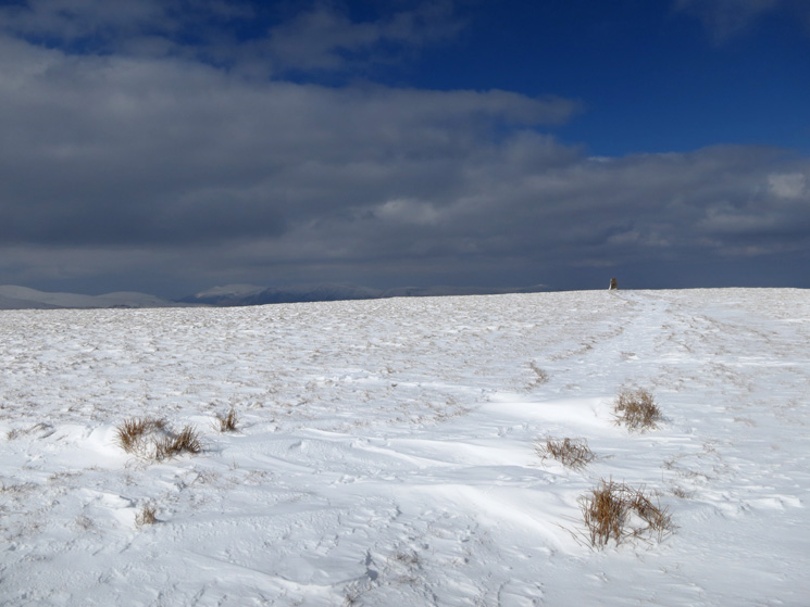 Looking back to the trig point