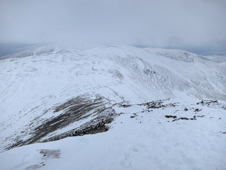 View from the top of Lower Man's north ridge