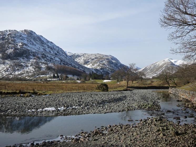 Bessyboot, Thornythwaite Fell and Base Brown across Stonethwaite Beck