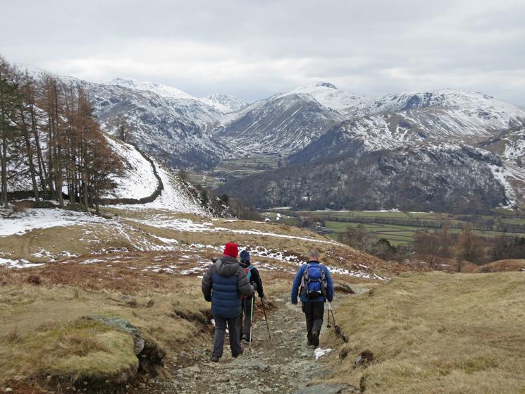 Descending to Rosthwaite