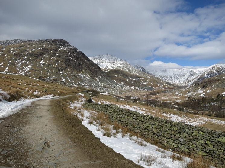 A look back up the valley as we return to Kentmere village