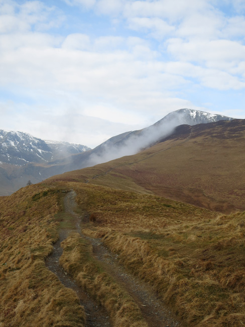 The way ahead, Grisedale Pike from Kinn