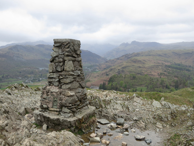 Loughrigg Fell trig point