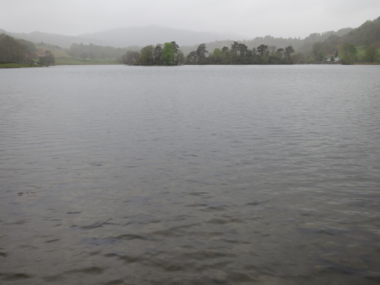 Rydal Water, the forecasted weather has arrived