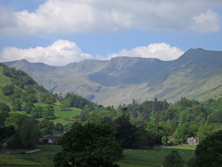 Looking up Grisedale to Nethermost Pike with Dollywaggon Pike on the left and High Spying How on the right