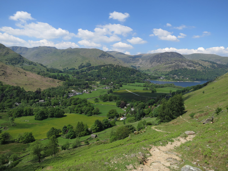 Patterdale from our descent from Boredale Hause