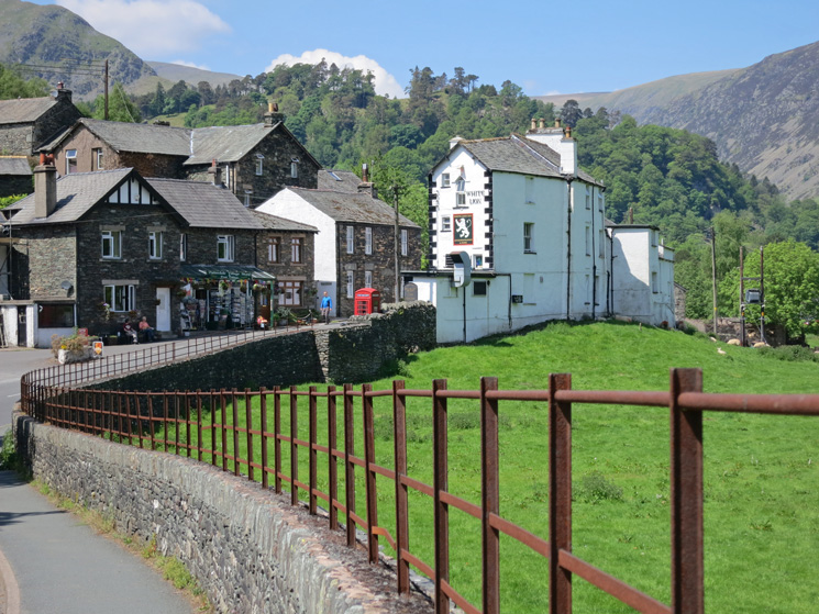 Patterdale Post Office (great ice creams) and the White Lion