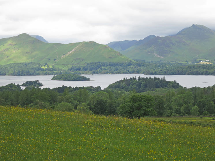 Catbells and Causey Pike as we head for Rakefoot