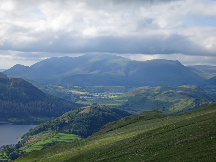 Looking over Great How to the Skiddaw fells