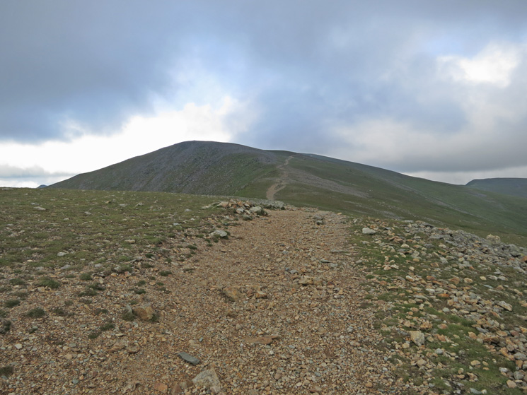 Lower Man (and Helvellyn), cloud free, from the top of Browncove Crags