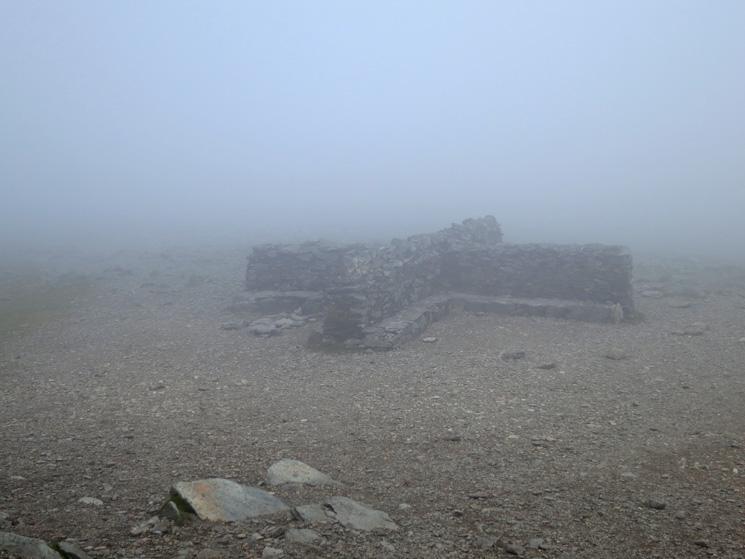 Helvellyn summit cross shelter, great views!