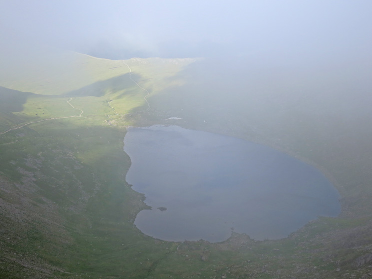 Red Tarns briefly appears